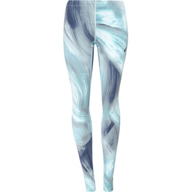 asics Graphic Tights Dame asphalt blue aurora print